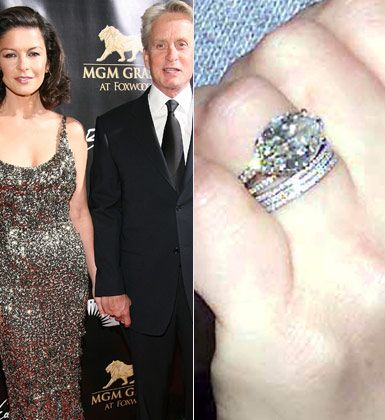 Catherine Zeta Jones Celebrity Engagement Wedding Rings