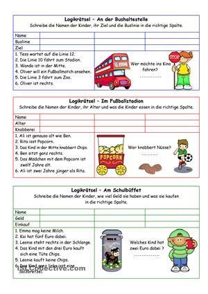 6 einfache Logikrätsel für jüngere Kinder. Lösung ist dabei. - DaF ...