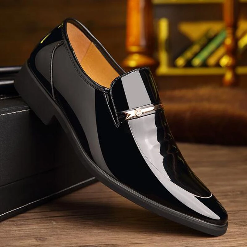 Men Dress Shoes Top Brand Luxury