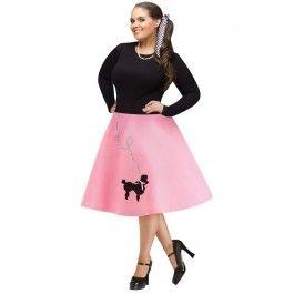 Adult Poodle Skirt Plus Size #halloween #adult #costume #skirt #plussize #plus #size #curves #poodle #rebelcircus