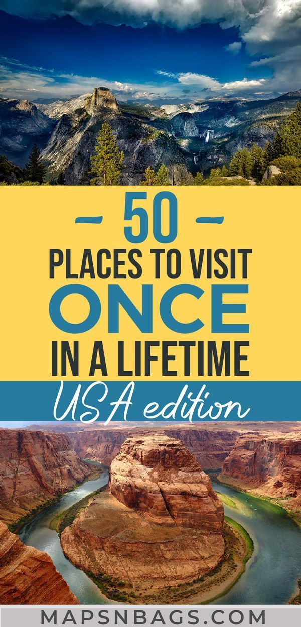 Ultimate USA Travel Bucket List: 50 Epic Places to Visit in USA » Maps 'N Bags