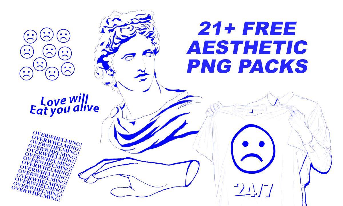 21 Free Aesthetic Png Packs Vaporwave Cute Lockscreens Cute Couple Drawings