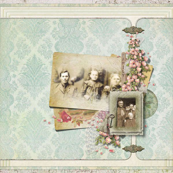 years go by softly colored family portrait page heritage