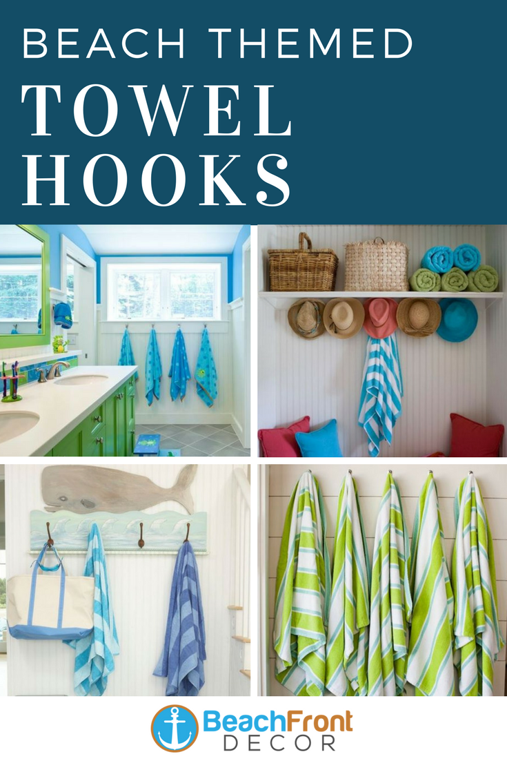 Beach Wall Hooks Beach Towel Hooks Beachfront Decor Beachfront Decor Beach Wall Decor Towel Hooks