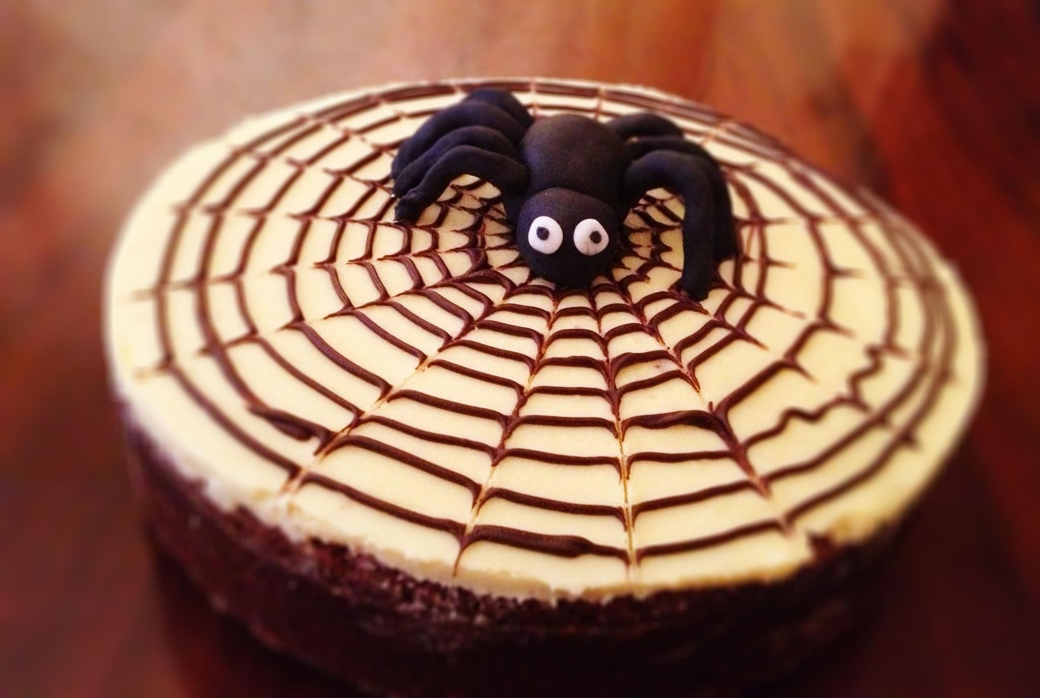 Happy Halloween Chocolate Fudge Cake With White Chocolate Ganache Spider