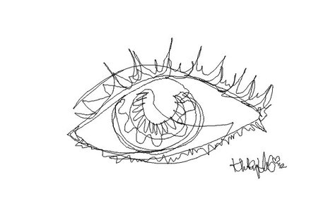 Continuous Line Drawing Of An Eye Eye Drawing Contradiction Art Eye Tattoo