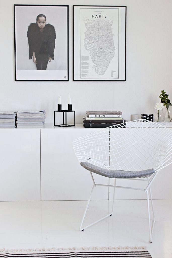 Vaihtelevasti Valkoista Ikea Besta By Lassen Kubus Bertoia Diamond Black And White Living Room Mobelideer Hus Innredning Sjenk