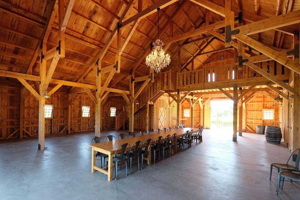 Post Amp Beam Construction Party Barn Wedding Venue