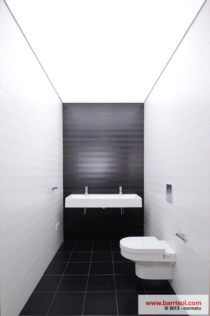 barrisol lumiere ceiling membranes used in bathroom displays