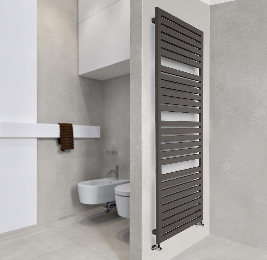 Terma Salisbury Towel Rail Designer Bathroom Radiator Towel Warmer Brown Towel Towel Rail