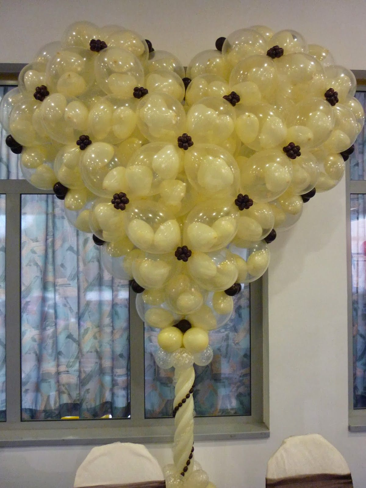 Wedding decoration ideas balloons  The Very Best Balloon Blog How to make a simple Quick Link Heart