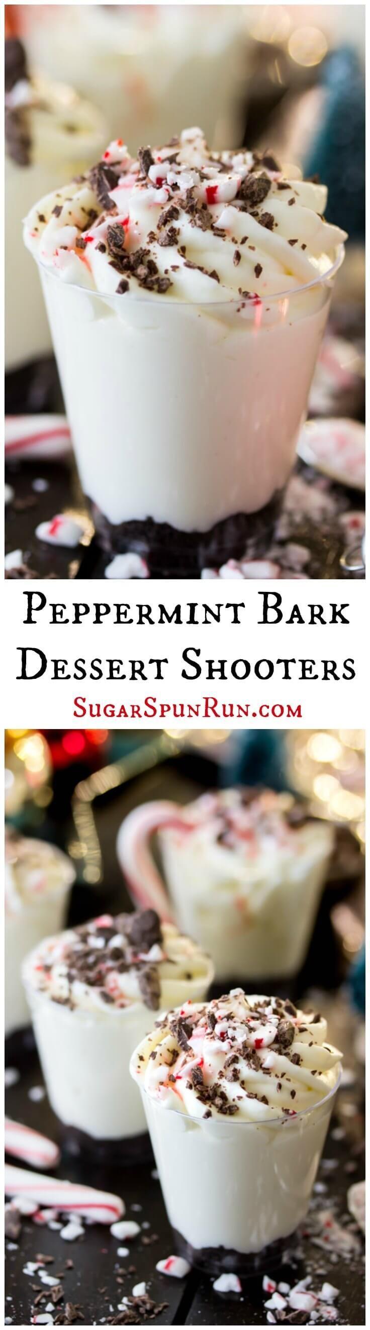 Peppermint Bark Dessert Shooters