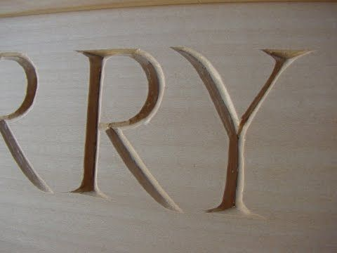 How to Wood Carve/Power Carve & Stencil Letters - YouTube ...