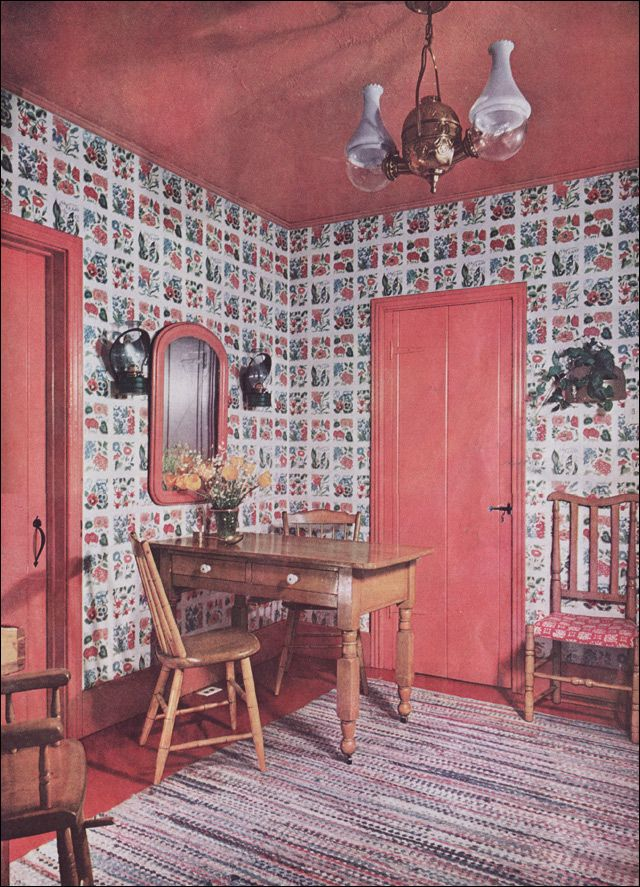 1950 Eat-in Colonial Kitchen - Incorporating Antiques - Mid ...