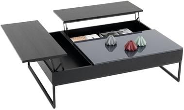 Chiva Functional Coffee Table With Storage The Product Is Available In Diffe Colours As Shown Black Stained Oak Veneer Charcoal Gray Gl Matte