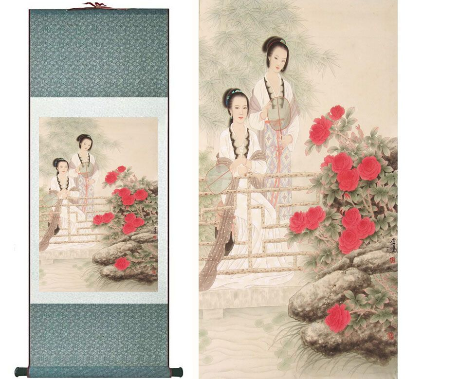Traditional-Chinese-pretty-girls-painting-Home-Office-Decoration