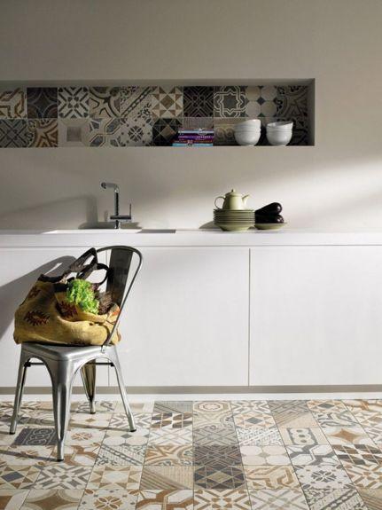 Baldosas Hidraulicas En La Cocina Decoraciones De Casa Azulejos Para Cocina Modernos Suelos Cocina