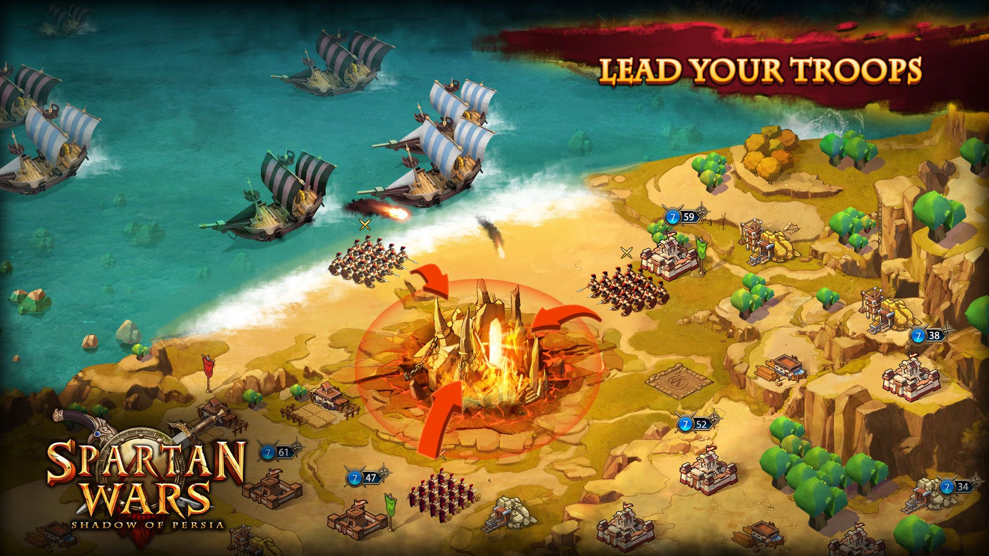 Spartan Wars Entertainment Strategy Ios Simulation War Spartan Popular Games