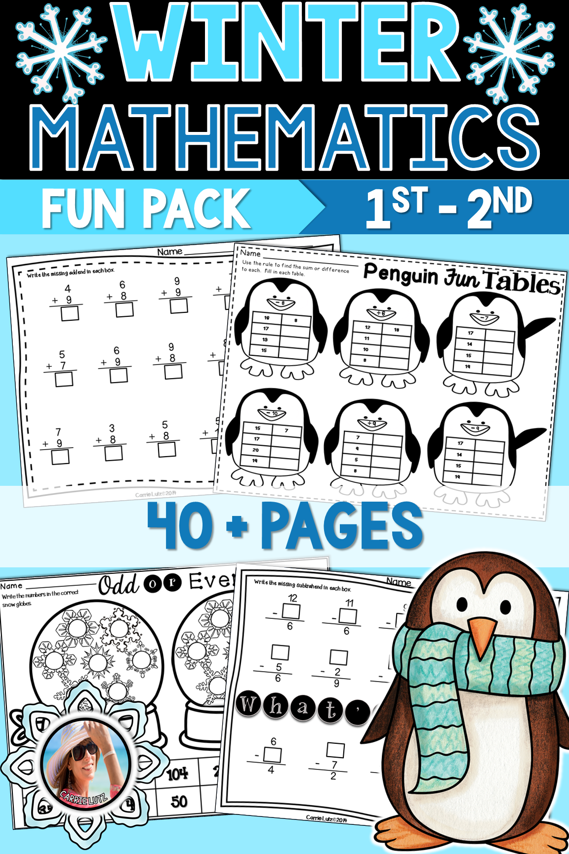 Winter Math Worksheets Ringin