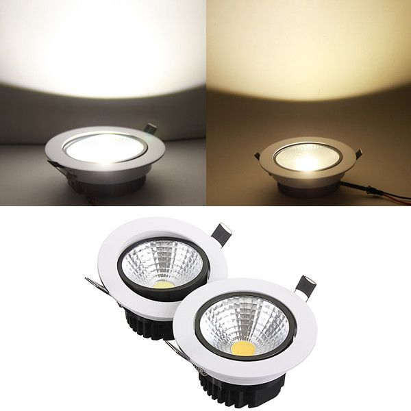 15w non dimmable cob led recessed ceiling light fixture down light