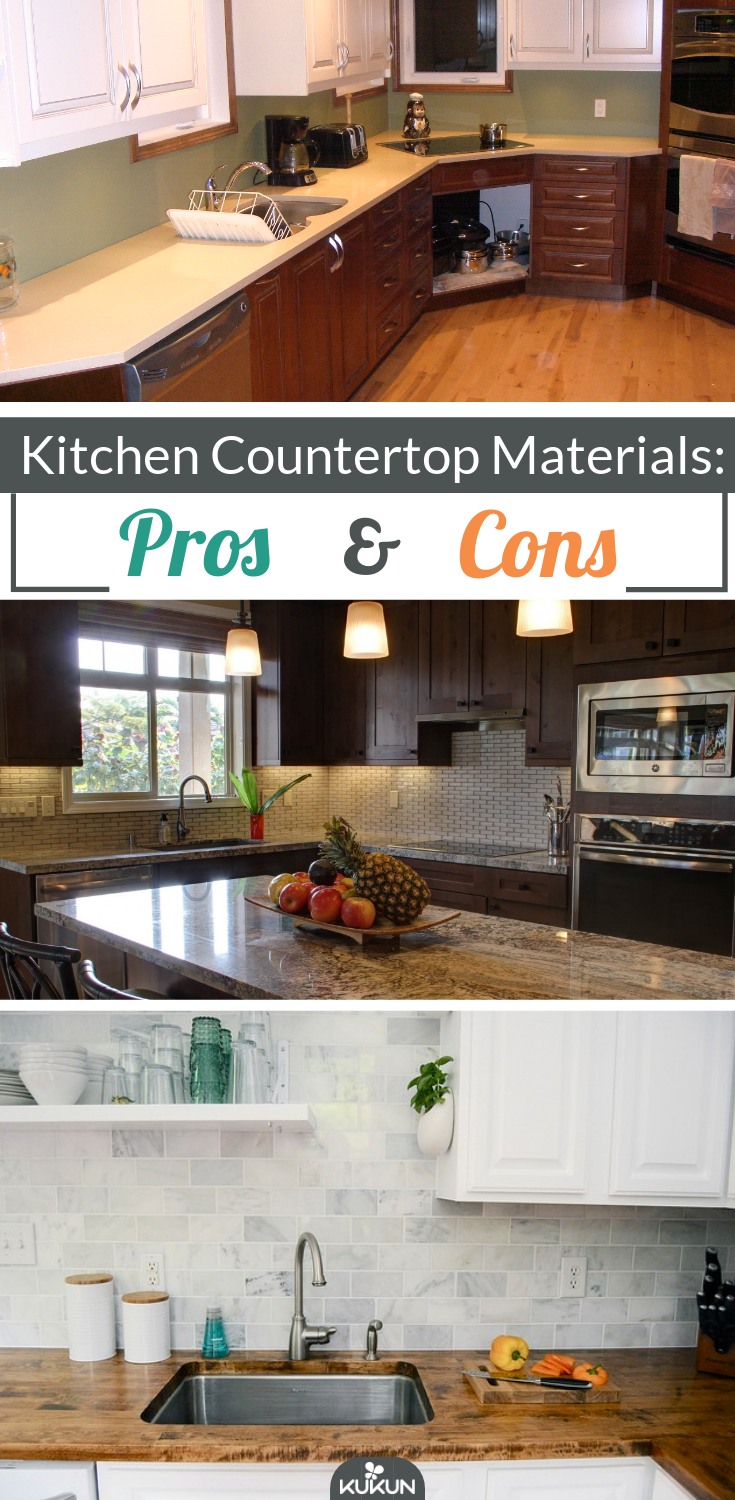 Kitchen Countertop Comparison Chart Pros And Cons Of Countertop Materials Bstcountertops