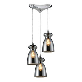 Westmore Lighting Alvingham 10-In Polished Chrome And Mercury Blown Gl
