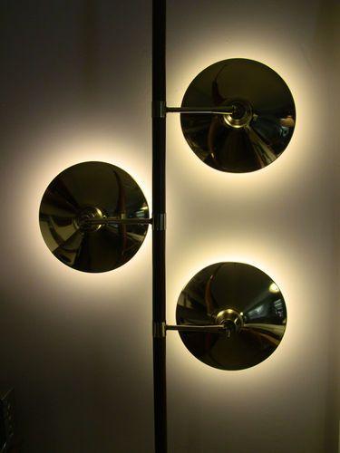 solar eclipse lamps --  Fantastic 1960 1962 Laurel Tension Pole Lamp by Gio Ponti Atomic | eBay