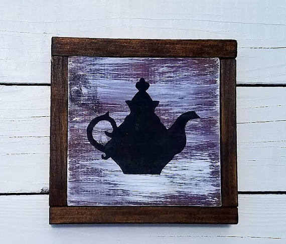 Rustic Wall Hanging Vintage Teapot Teapot Hand Tea Pots Vintage Rustic Wall Hangings Wall Hanging