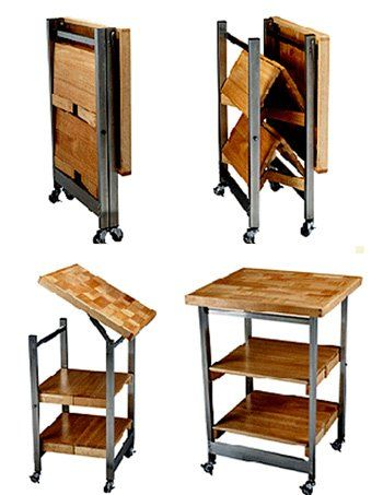 Small Space Solutions A Folding Island Folding Furniture Small