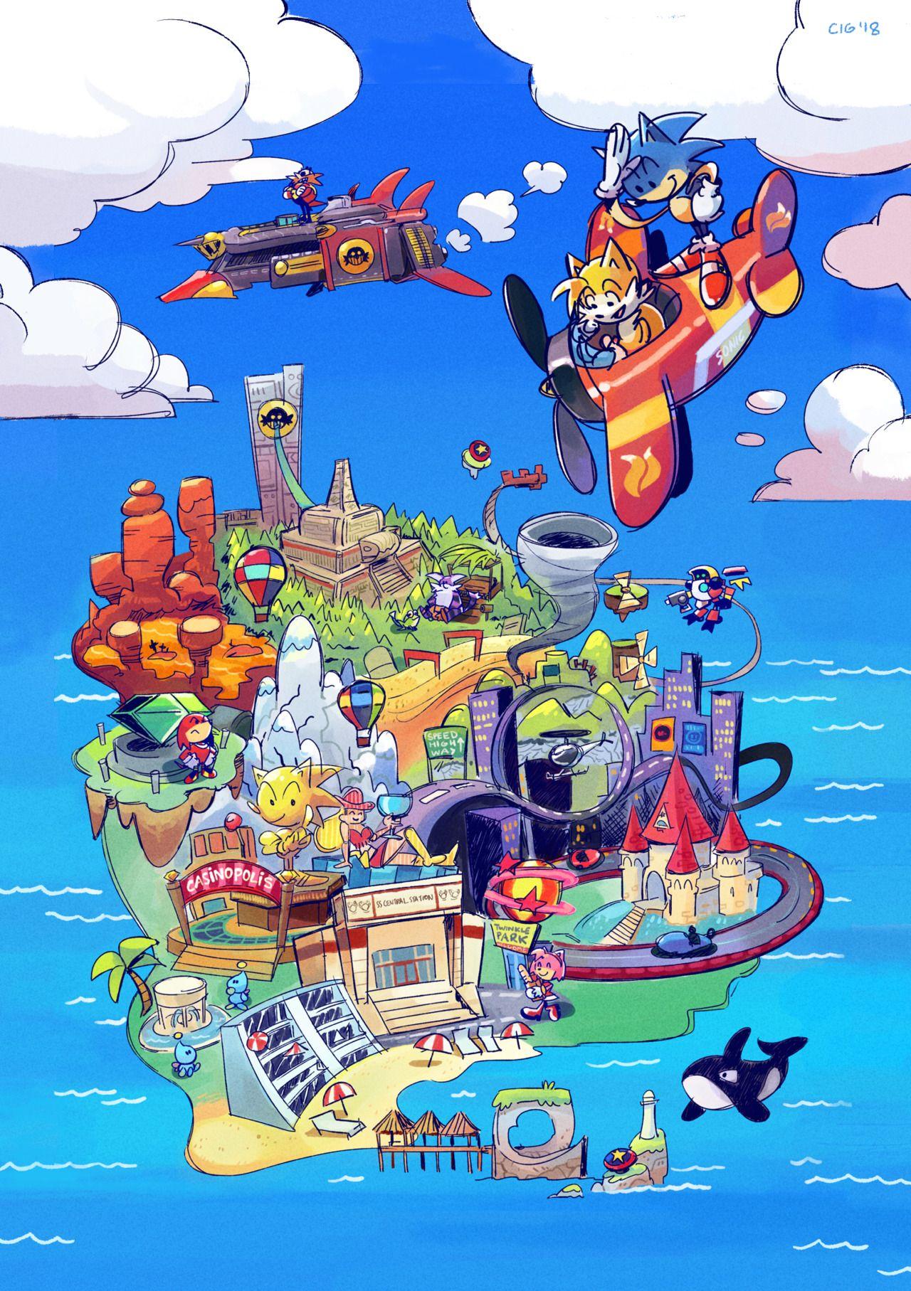a Sonic Adventure world map! | Games I Love | Pinterest | Sonic