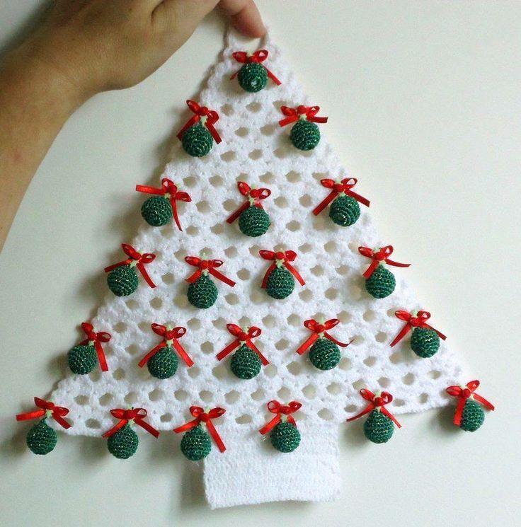Resultado de imagen para navidad en crochet pinterest - Manualidades navidad 2017 ...