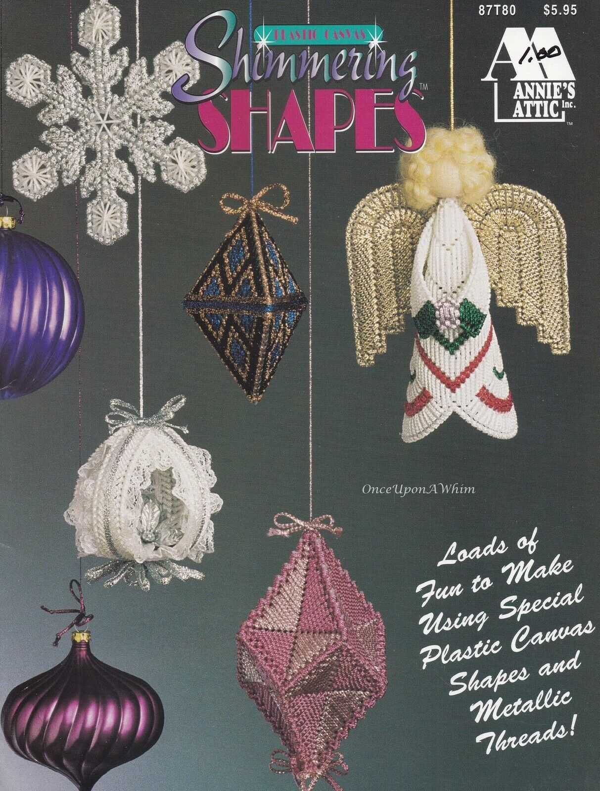 Shimmering Shapes Christmas Ornaments Annie S Plastic Canvas Pattern Book 87t80 Ebay Plastic Canvas Patterns Christmas Ornament Pattern Canvas Patterns