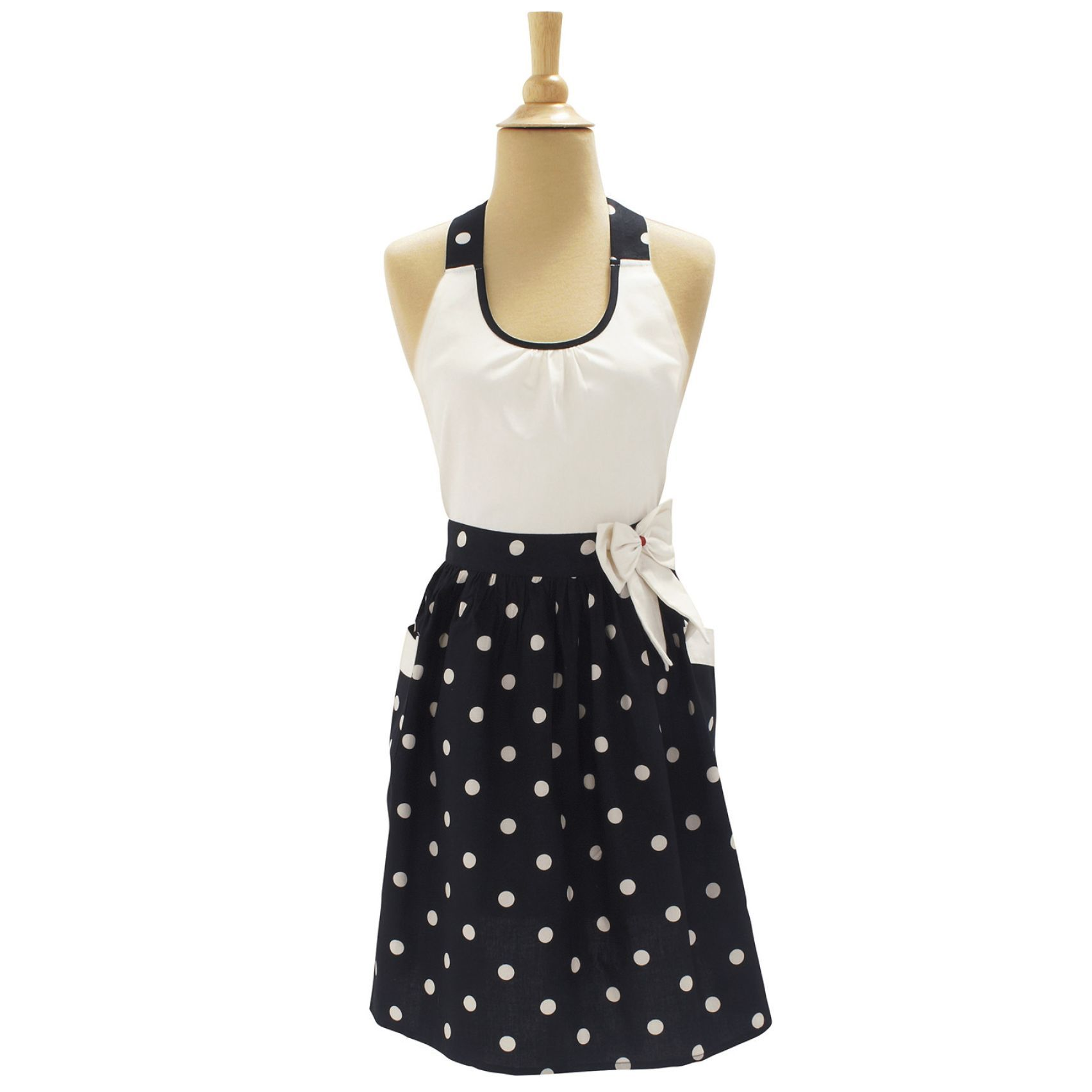 Dotty Bow Vintage Inspired Aprons Sur La Table Practical