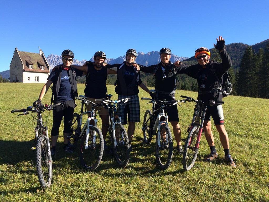 Mir dem Born2.Bike-Team in Kranzberg