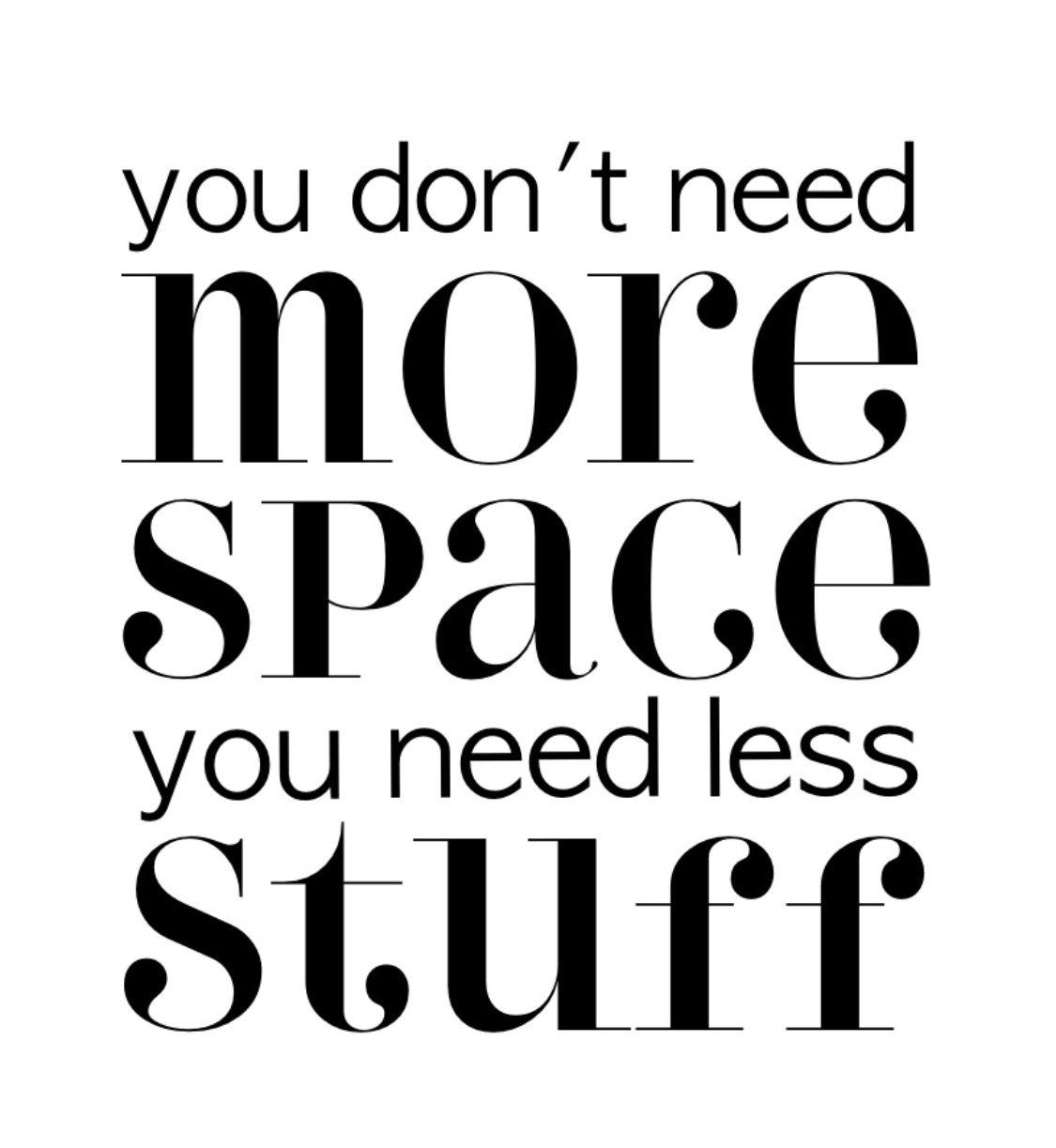 I really do need less stuff. Ok. Why then do I keep buying