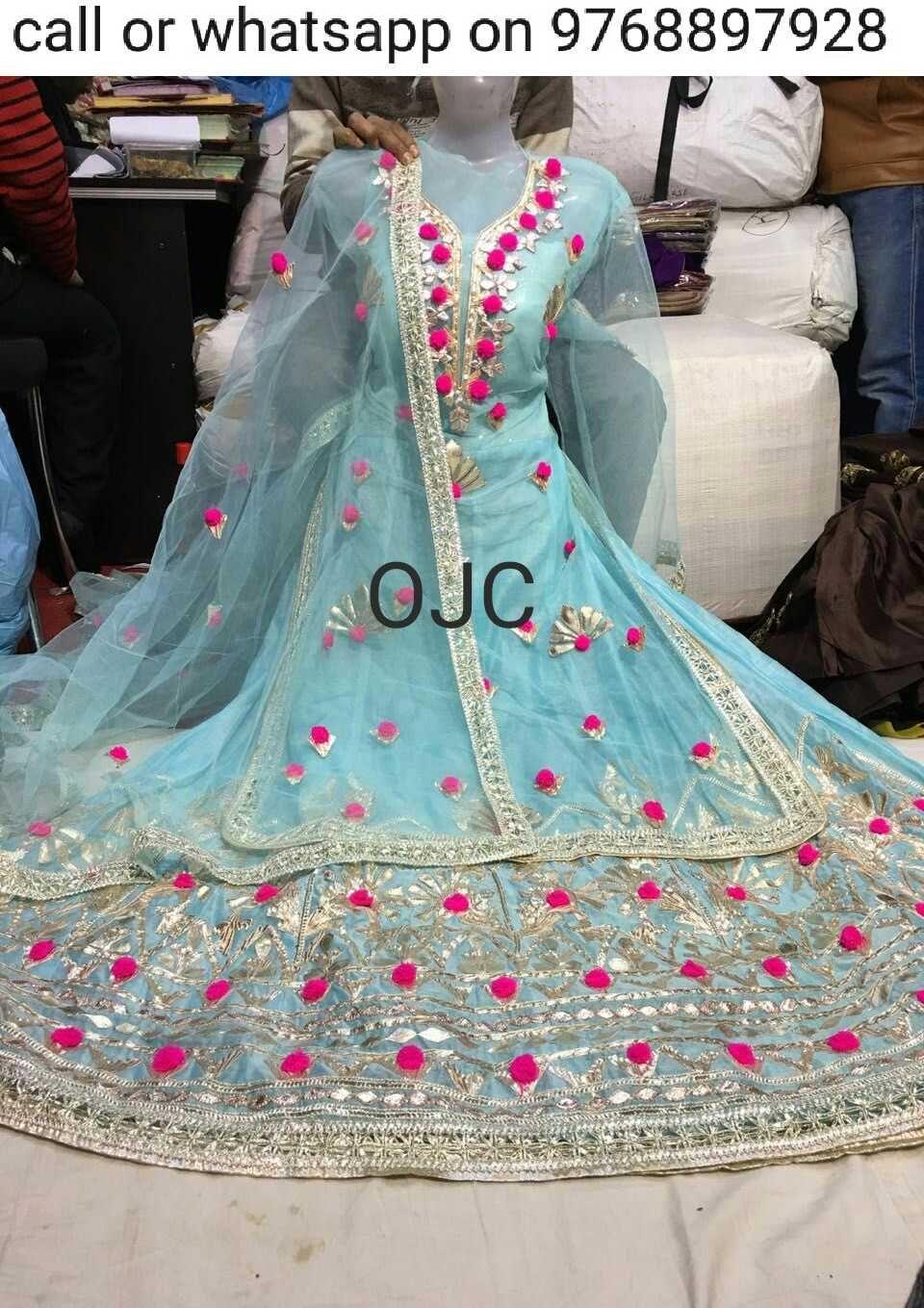 Opada Silk Gotapatti Sharara Party Wear Dresses Designer