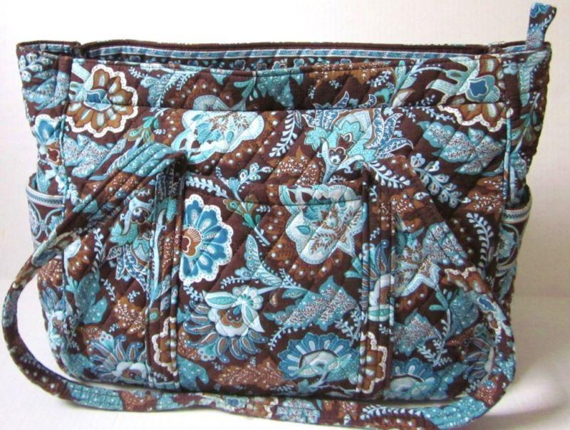 Vera Bradley Java Blue Diaper Bag Tote Purse
