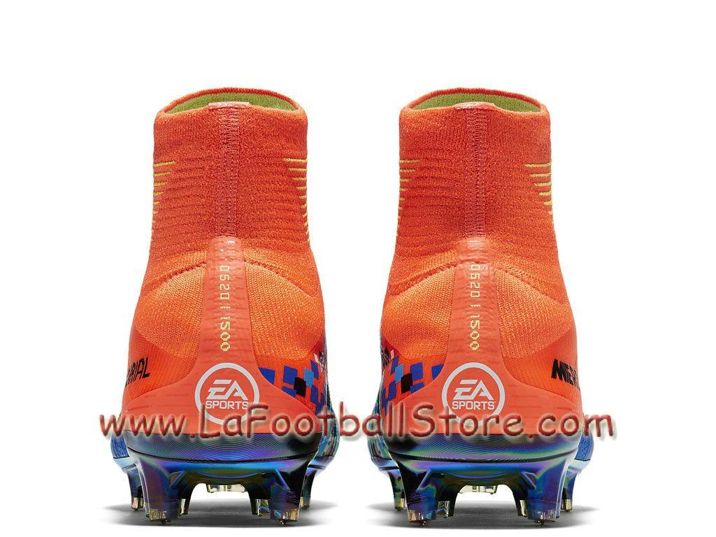 Nike Football X EA Sports Mercurial Superfly FG Cramoisi total Chaussure  Nike Pas cher De football 7642bb05b99dc