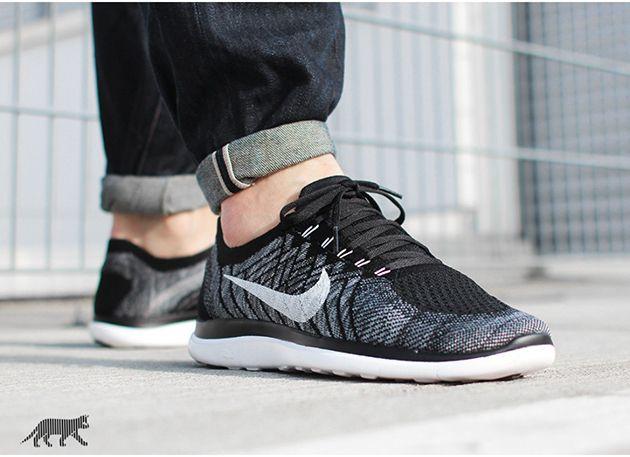 Nike Free Flyknit 4.0 – Black / White – Wolf Grey – Dark Grey