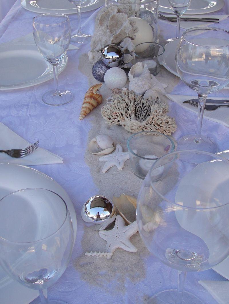Happy Holidays Beach Christmas Decorations Holiday Table