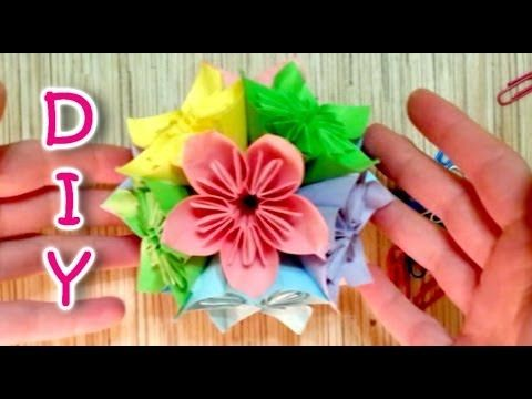 How to make a kusudama japanese flower ball made of paper flowers how to make a kusudama japanese flower ball made of paper flowers mightylinksfo