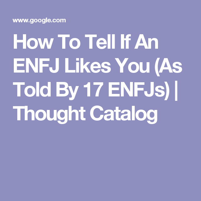enfjs and dating