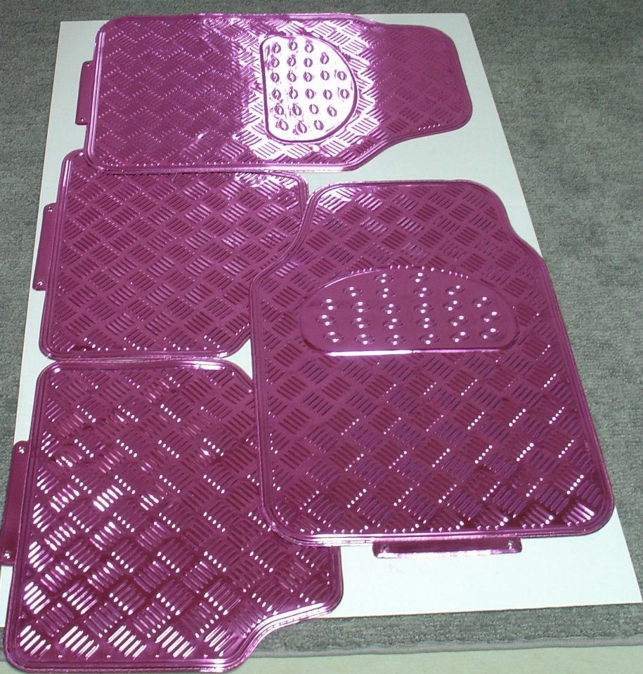 Rubber floor mats uk -  My Own Pink Aluminum Floor Mats So Shiny Whoa