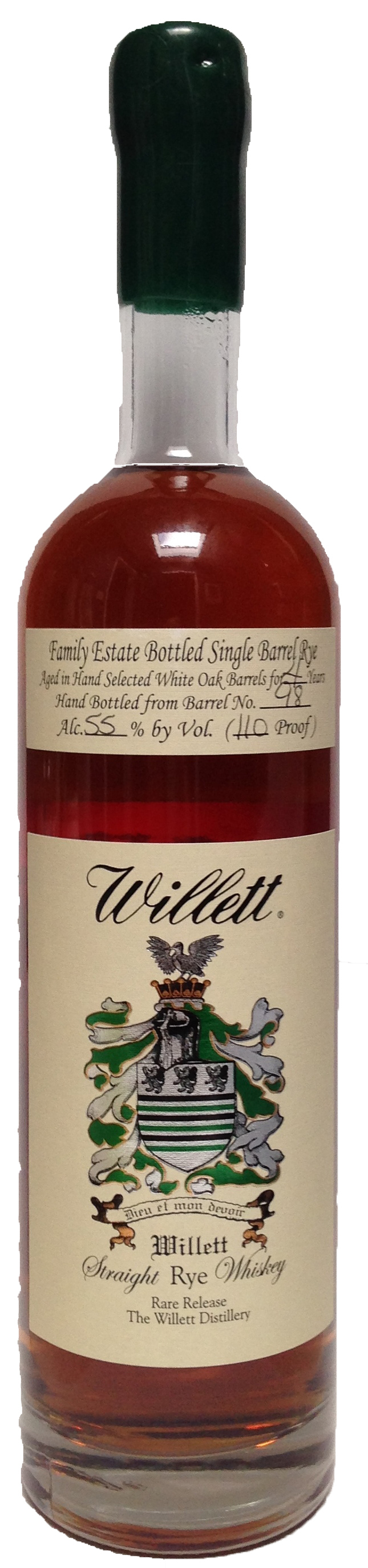 Willett 4 Year Old Rye Barrel 98 Whiskey Jack Daniels Whiskey Bottle Rye Whiskey