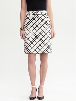 #BananaRepublic Belted graphic pencil skirt
