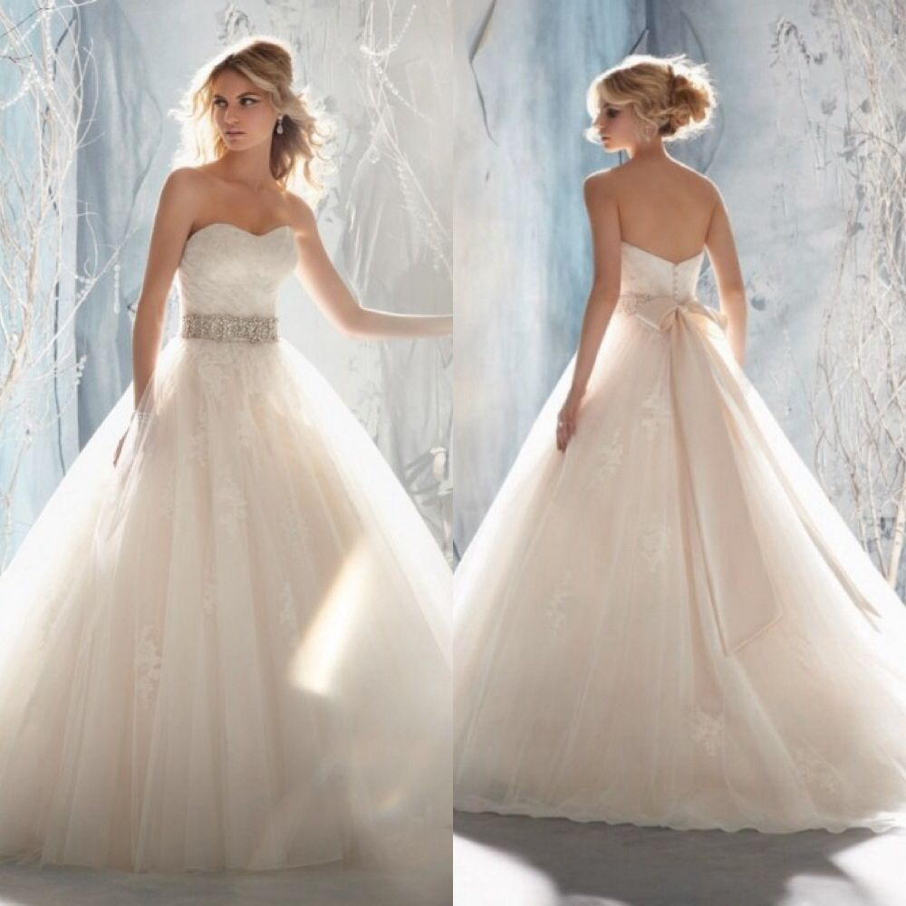 Wedding Gowns For Less: Beautiful Ball-gown Wedding Dress. Maybe A Little Less