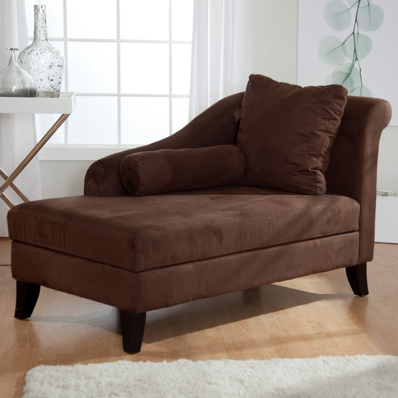 Lounge Chairs For Bedroom Ashland Chaise Storage Lounger Mocha Living Room