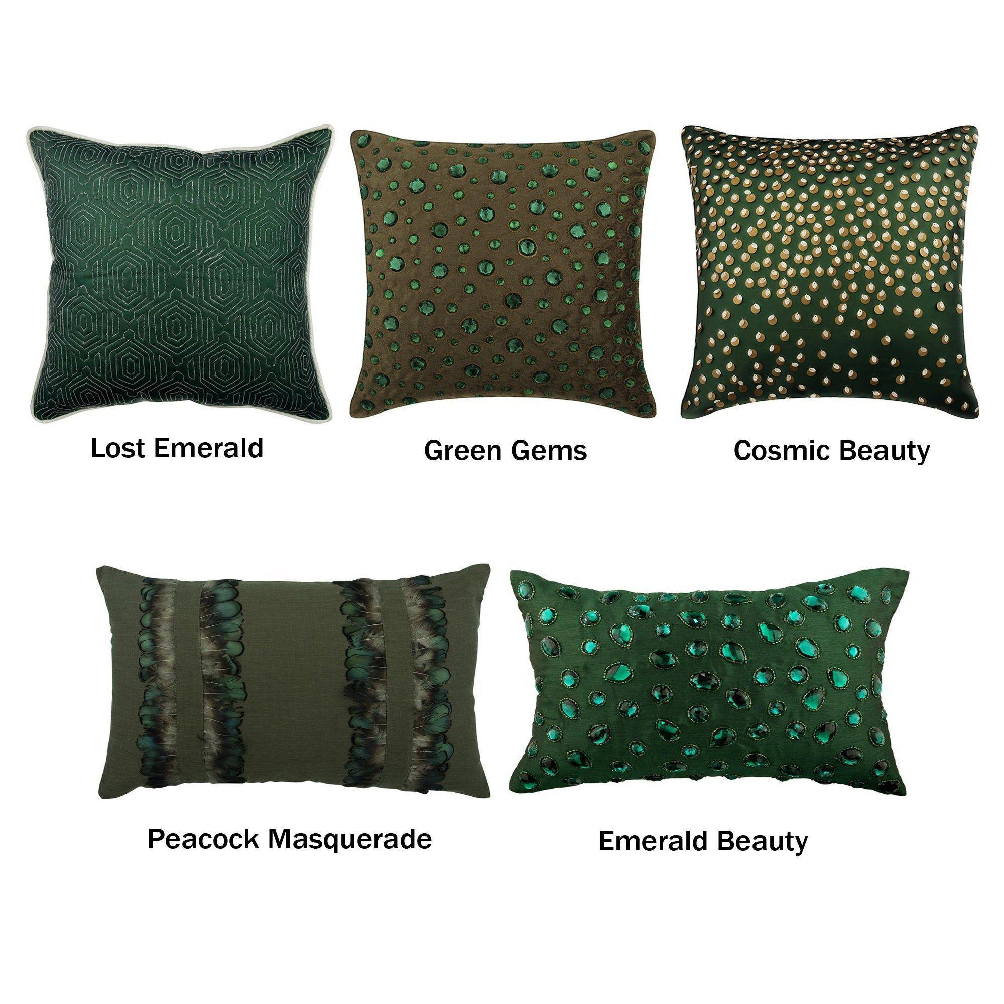 decorative throw pillow cover emerald