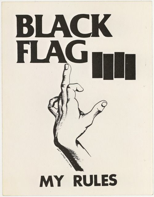 My Rules Punk Poster Punk Art Black Flag