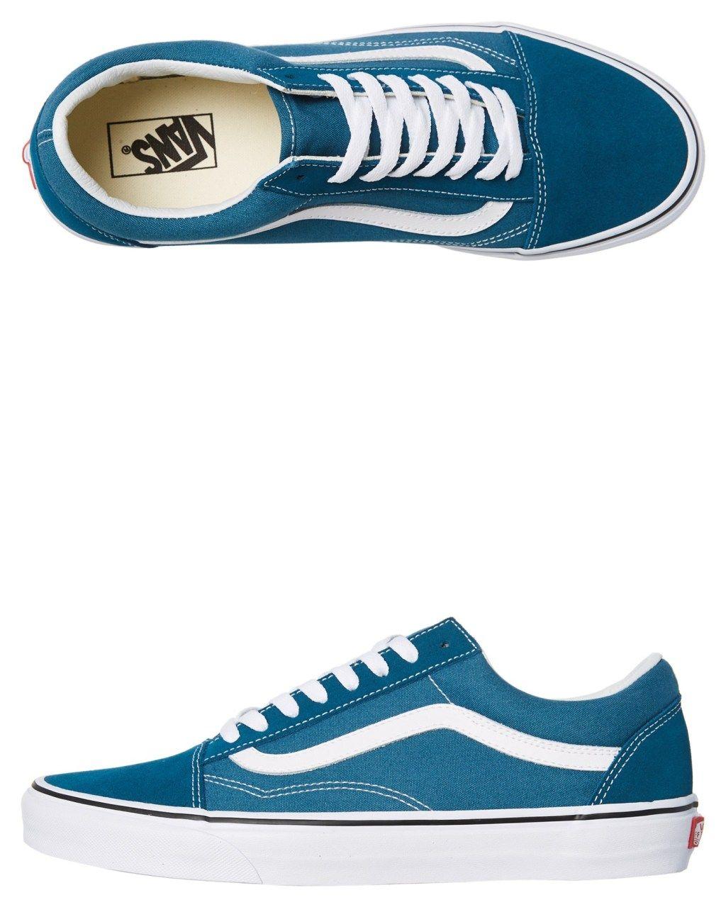 c188aac8f3 Vans Mens Old Skool Shoe Corsair White Corsair White Womens Sneakers Size 12